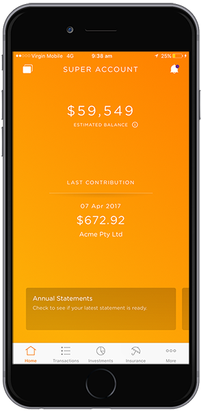Investments on mobile app