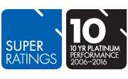 SuperRatings - 10 Year Platinum Performance Super